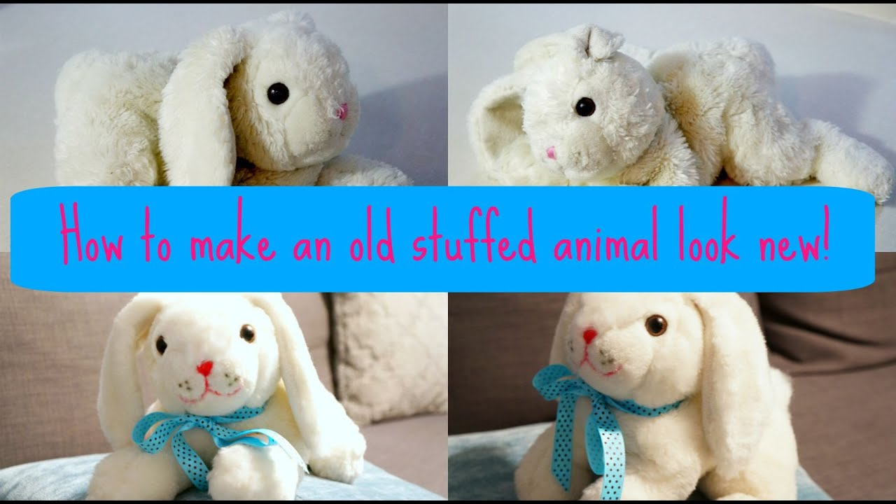 How To Make An Old Stuffed Animal Look New Again Youtube