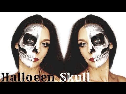 HALLOWEEN SKULL MAKEUP || teschio makeup tutorial thumbnail