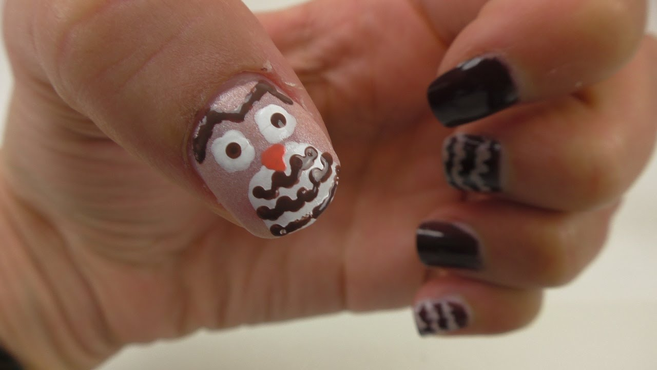 Youtube Nageldesign Nageldesign Selber Machen: Diy Eulen Nageldesign Für Den