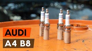 Ako vymeniť Zapalovacia sviečka A4 (8K2, B8) - krok za krokom video příručka