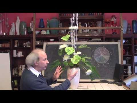 How To Make A Big Green And White Vase Arrangement Youtube