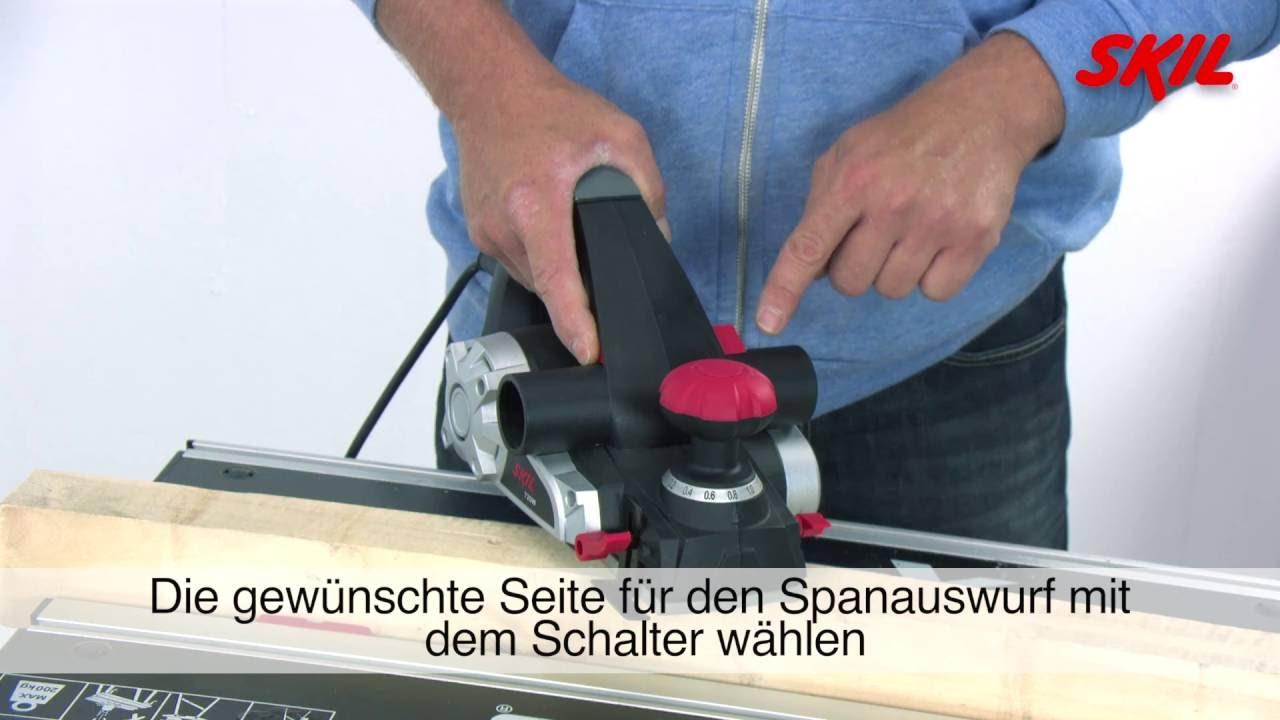 Hervorragend Wie verwendet man einen Elektrohobel? - YouTube BH48