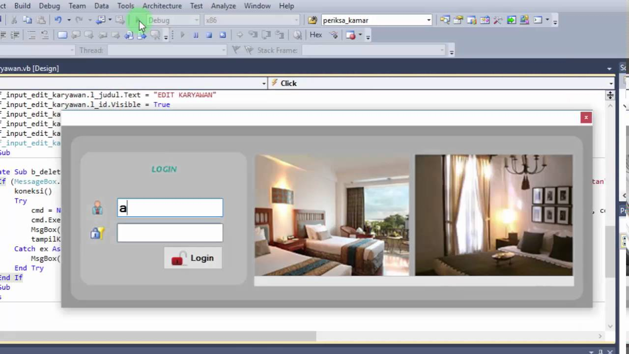 PART7 MEMBUAT APLIKASI HOTEL DENGAN VB.NET + DATABASE MYSQL - YouTube