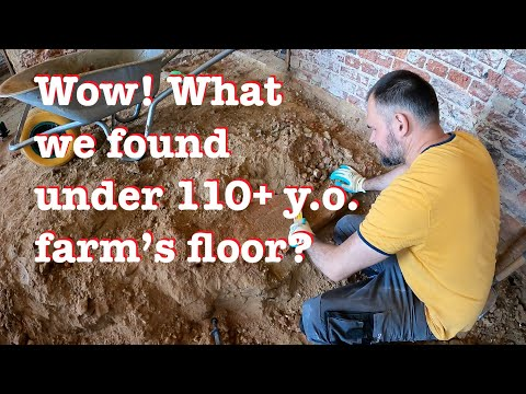 Unforeseen beauty found under the 1908 farm's floor / Digging out floor in the hallway / Ep.31