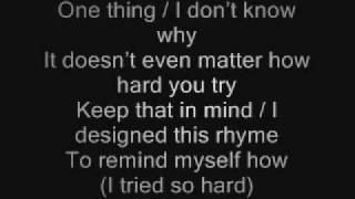 Linkin Park In The End Lyrics