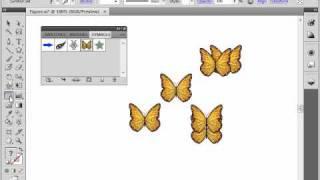 Инструменты для работы с символами в Adobe Illustrator CS4 (39/39)