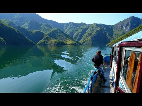 Albania / Beautiful Koman Lake bus-boat trip to Fierze
