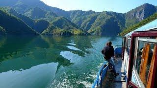 Albania / Beautiful Koman Lake bus-boat trip to Fierze