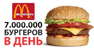 7.000.000 бургеров в ДЕНЬ! Насколько велик McDonald