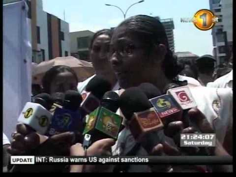 Newsfirst_Mothers and Daughters of Lanka staged protest against USA