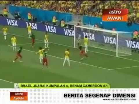Brazil vs Cameroon world cup 2014 all goals (4-1)