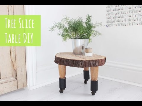 Tree slice table, easy diy project