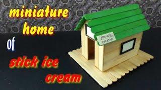 Cara Mudah Membuat Miniatur Rumah Dari Stik Es Cream