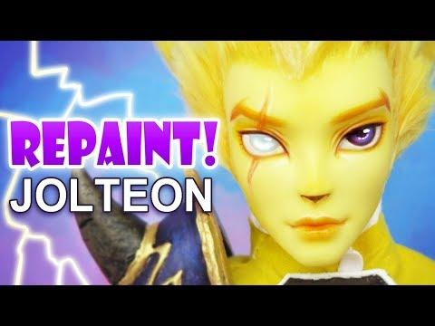 Repaint! Jolteon Pokemon Custom OOAK Male Doll