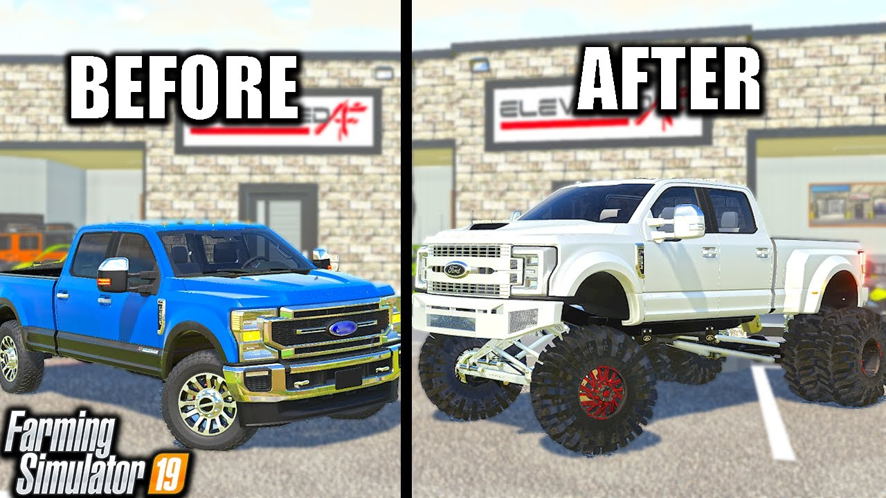 TURNING WORK TRUCK INTO $150,000 ANYLEVEL F350! | (ROLEPLAY) FARMING SIMULATOR 2019