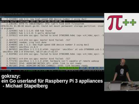 Pi and More 10 – gokrazy: ein Go userland für Raspberry Pi 3 appliances