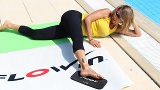 Esercizi per i muscoli dell'anca(In questo video Michela esegue alcuni esercizi di mobilità per l'articolazione coxo-femorale con il tappetino Flowin. Esercizi utili nella prevenzione della ..., 2015-11-22T18:45:49.000Z)