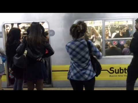 This is a day on the subway from Argentina