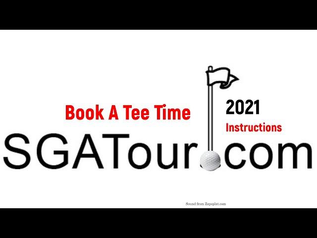 How to Book a Tee Time - SGA Tour