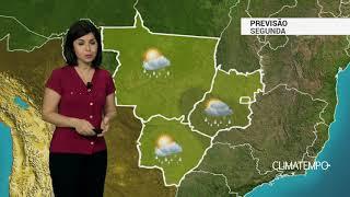 Previsão Centro-Oeste – Segunda-feira de mais chuva