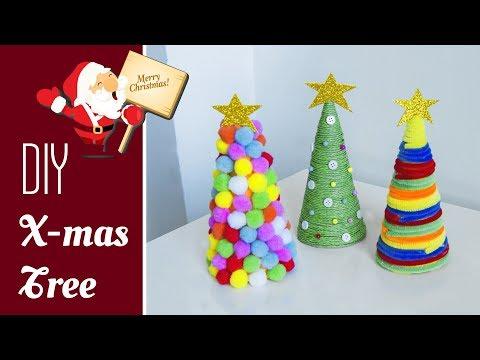 3 DIY tabletop Christmas tree 2019 | Holiday room decor| Christmas decorations ideas | Beads art