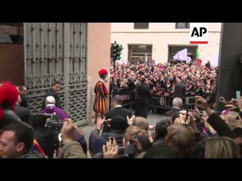 Pope francis tells staff he wants to greet people waiting at church pope francis tells staff he wants to greet people waiting at church m4hsunfo