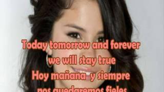 Selena Gomez & The Scene - I promise You Lyrics English & Spanish (HD)