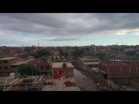Dia despues de fuerte lluvia en JLO Chiclayo in Peru 03/02/2017