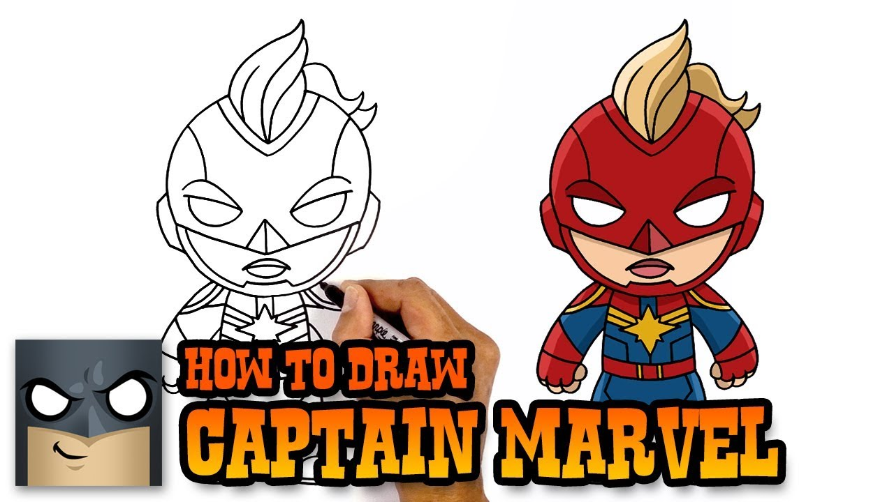 How To Draw Captain Marvel The Avengers Step By Step Tutorial