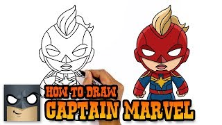 How to Draw Captain Marvel | Awesome Step-by-Step Tutorial