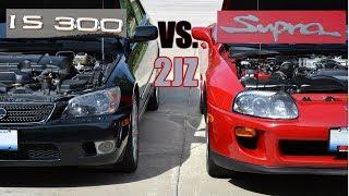 Lexus IS300 vs. Toyota Supra   2JZ Comparison