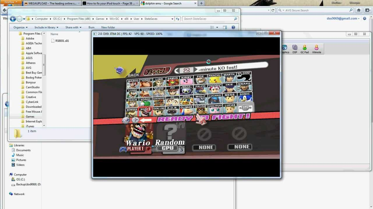 sauvegarde super smash bros brawl wii