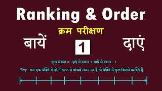 Ranking and Ordering Tricks in hindi | Reasoning | Basic Concept | Techatal07