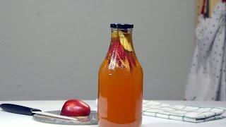 Чайный гриб (Комбуча). Вторичная ферментация. Яблоко-корица