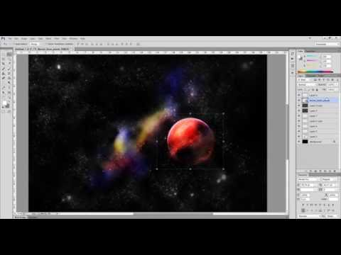 Пример как по быстрому сделать космическую тему на рабочий стол