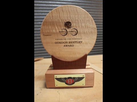 Making a  hardwood memorial golf trophy