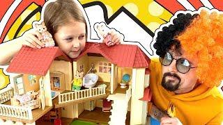 Амелька и Пуфик НЕ ПОДЕЛИЛИ новые игрушки Sylvanian Families и Игрушки ИСЧЕЗЛИ! Амелька Карамелька