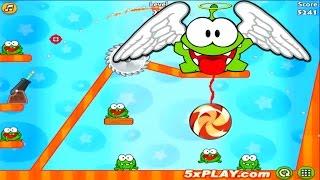 Funny Cartoon Game Om Nom GUN WITH CANDY #4  Ам Ням ГАРМАТА З ЦУКЕРКАМИ Веселий Мультик Гра
