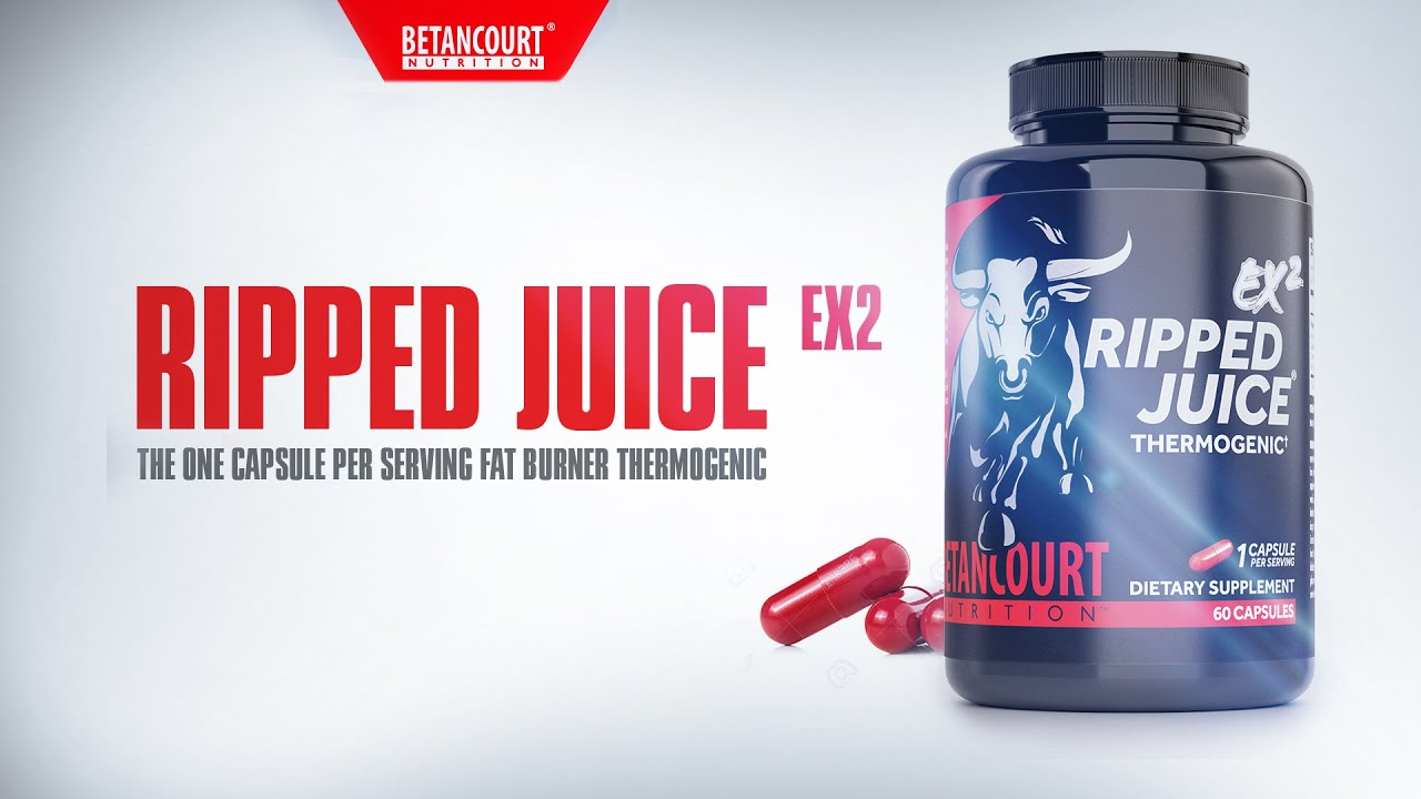 Ripped Juice EX2- the one capsule per serving fat burner. Betancourt Nutrition