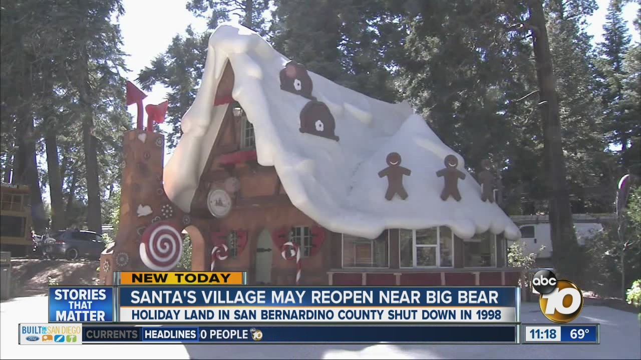 San Diego To Big Bear >> Santa S Village May Reopen Near Big Bear