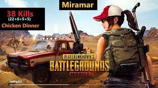 """[Hindi] PUBG Mobile   """"22 Kills"""" In Miramar Amazing Match"""
