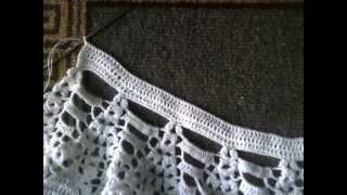 Вязание крючком (ажурный воротник)