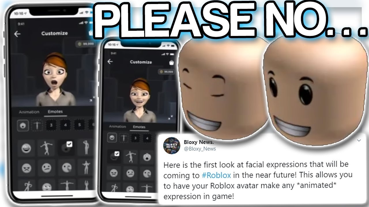 More Faces Roblox Roblox Will Add Animated Faces Soon This Is Creepy Youtube