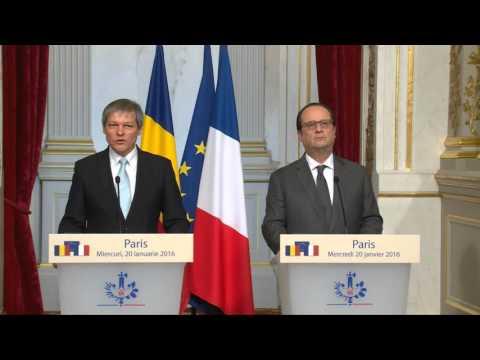 Declaraţii de presă ale Prim-ministrului Dacian Cioloş la Paris