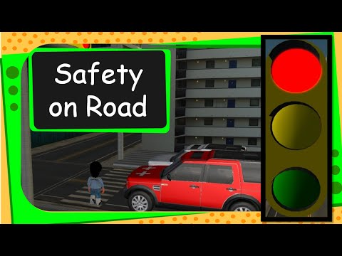 Science How to be Safe on Roads (Traffic signal and safety rules) English