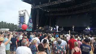 """Lice at the https://foreveryoungfestival.ie/ festival ireland 2019. """"you take me up"""" is a song by british pop group thompson twins. it was third sing..."""