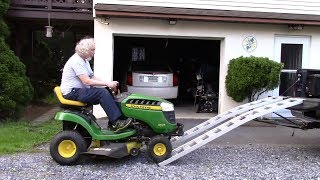 The Right Way to Load a Lawn Tractor on a Truck
