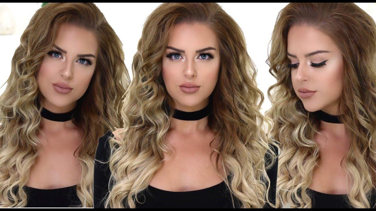 Voluminous curly hair tutorial boho curls youtube baditri Choice Image