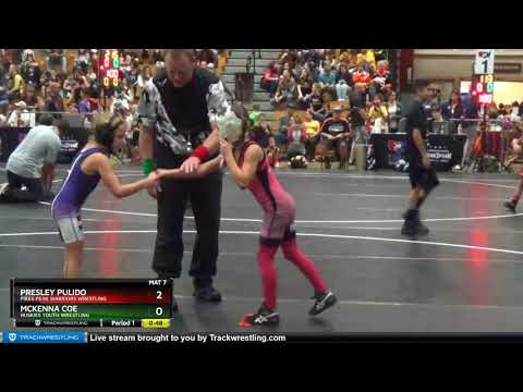 Intermediate Girls 49-54 Presley Pulido Pikes Peak Warriors Wrestling Vs McKenna Coe Huskies Youth