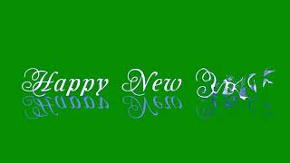 Green Screen Happy New Year After Effects Animated Chrome Key Footage 3 pack Футаж